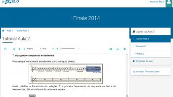 Exemplo de tutorial do curso de Finale