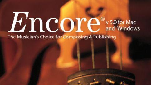 Encore 5 - Editor de partituras