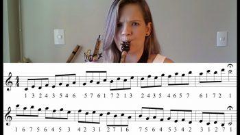 Estudando ESCALAS no seu instrumento de SOPRO